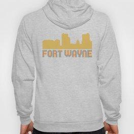 Vintage Style Fort Wayne Indiana Skyline Hoody