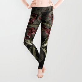 """Peonies are beautiful from the """"bud to to the end."""" Leggings"""