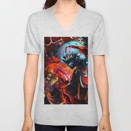 Red Ghoul Unisex V-Neck