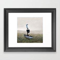 Umbrella melancholy Framed Art Print