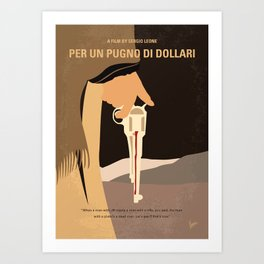 No721 My A Fistful of Dollars minimal movie poster Art Print