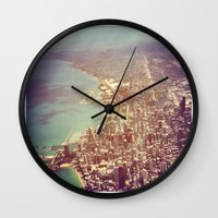 chicago Wall Clocks featuring Chicago by lizzy gray kitchens