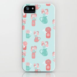 Floral Jugs | Turquoise Palette iPhone Case