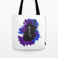 saxophone Tote Bags featuring Saxophone Jive by Aaron Gonzalez