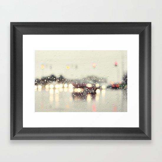 driving in the rain Framed Art Print