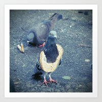 hiphop Art Prints featuring HipHop Dove Wife by Sigurdfisk
