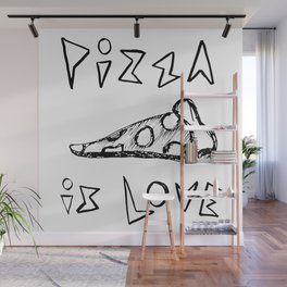 Pizza is Love Wall Mural