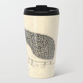 Monochrome Hedgehog Travel Mug