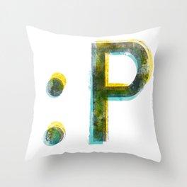 emoticon Throw Pillow