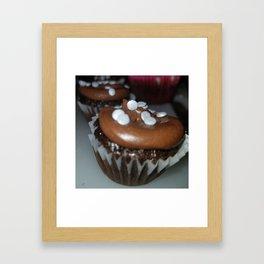 Chocolate Oreo crunch cupcakes Framed Art Print