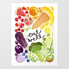 Eat Well Art Print