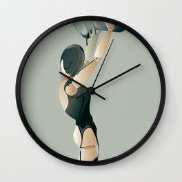 PAINTED BLACK Wall Clock