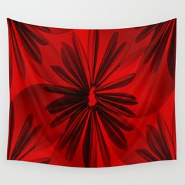 Red Origami Flowers #decor #society6 Wall Tapestry