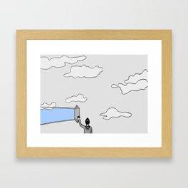 el cielo es azul Framed Art Print