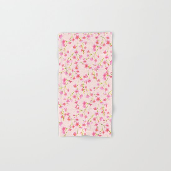 Cherry Blossoms Pink on Pink (For Mackenzie) Hand & Bath Towel