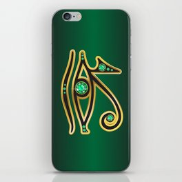 Eye of Ra Emerald iPhone Skin