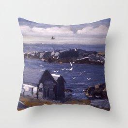 "George Wesley Bellows ""The Gulls, Monhegan"" Throw Pillow"