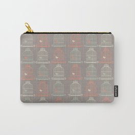 Bird Cage Pattern, Illustration, Shabby Chic, Vintage, Carry-All Pouch