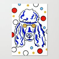 poodle Canvas Prints featuring Poodle by ClarityArtDesign