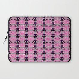Raceway Plaid Skull and XBones: Pink, Grey, Purple Laptop Sleeve