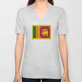 Flag of sri Lanka -ceylon,India, Asia,Sinhalese, Tamil,Pali,Buddhist,hindouist,Colombo,Moratuwa,tea Unisex V-Neck