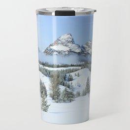 Grand Tetons in Winter Travel Mug