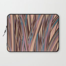 LYON pink peach turquoise brown glowing tall grass Laptop Sleeve