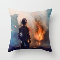 how to train your dragon Throw Pillows featuring how to train your dragon 2 by AkiMao