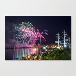 Miramichi Fireworks Canvas Print