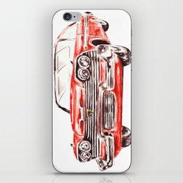 Watercolor Red Classic Car iPhone Skin