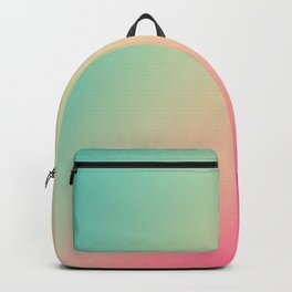 Gradient Colours: Turquoise Pink Pastel Backpack