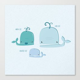 whale family Canvas Print