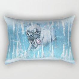 Sabertooth Pug Rectangular Pillow