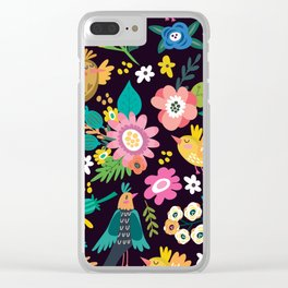 The floral floresta Clear iPhone Case