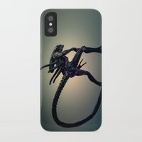 xenomorph iPhone & iPod Cases featuring The Xenomorph by Monster Brand