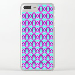 Pink Spurs Hot Pink on Turquoise Cowgirl Spurs Midwestern Ranch Decor Southwestern Design Pattern Clear iPhone Case