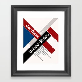 God Bless The United States Framed Art Print