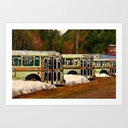 Bus Cemetery Art Print