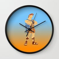 hercules Wall Clocks featuring Hercules by pokegirl93