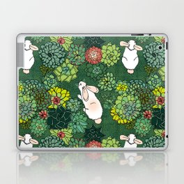 Rabbits in a Succulent Garden Laptop & iPad Skin
