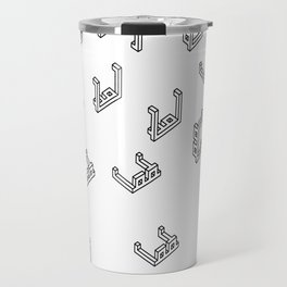 Pixelated 3D glasses pattern Travel Mug