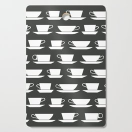 Pattern of Coffee and Tea Cups Cutting Board