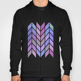 blue & purple chevron Hoody
