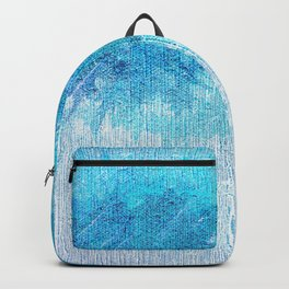 Abstract textured Teal blue Art Backpack