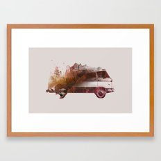 Drive me back home Framed Art Print