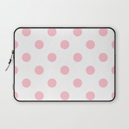 Polka Dots - Pink on White Laptop Sleeve