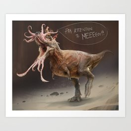 The Most Inaccurate T-Rex Ever. Art Print