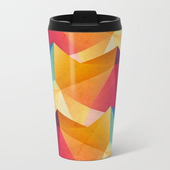 geometric color mountains Metal Travel Mug