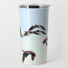 V-Sandhill Cranes Travel Mug