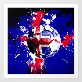 football Iceland Art Print